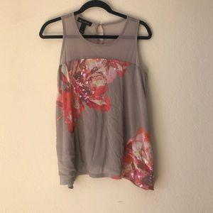 Sequin floral top